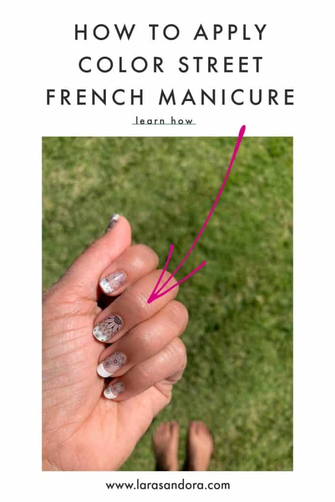 applying French Manicure