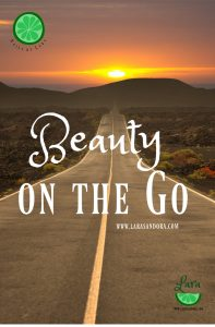 Beauty on the go, travel beauty tips