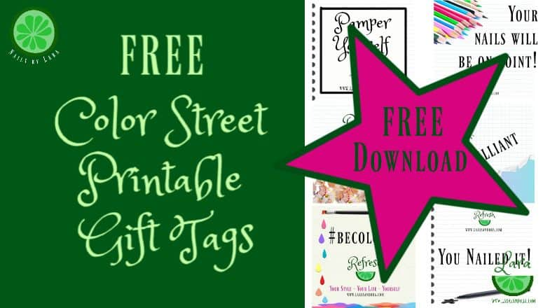 FREE Color Street Tags:  Make Your Gifts Special with These 6 Tags
