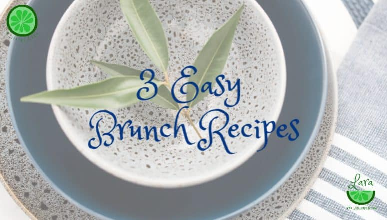 3 Easy Brunch Recipes:  Olive Oil Granola, Sour Cream Coffee Cake, Easy Champagne Cocktail