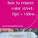 How to remove Color Street