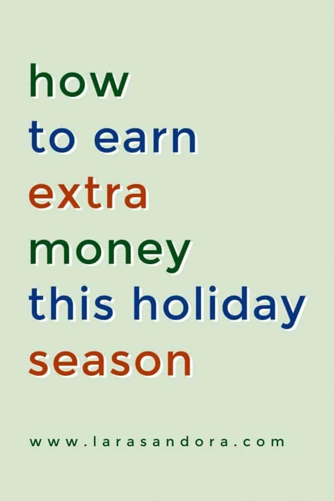 earn extra holiday money
