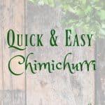 quick and easy chimichurri recipe