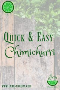 quick and easy chimichurri recipe
