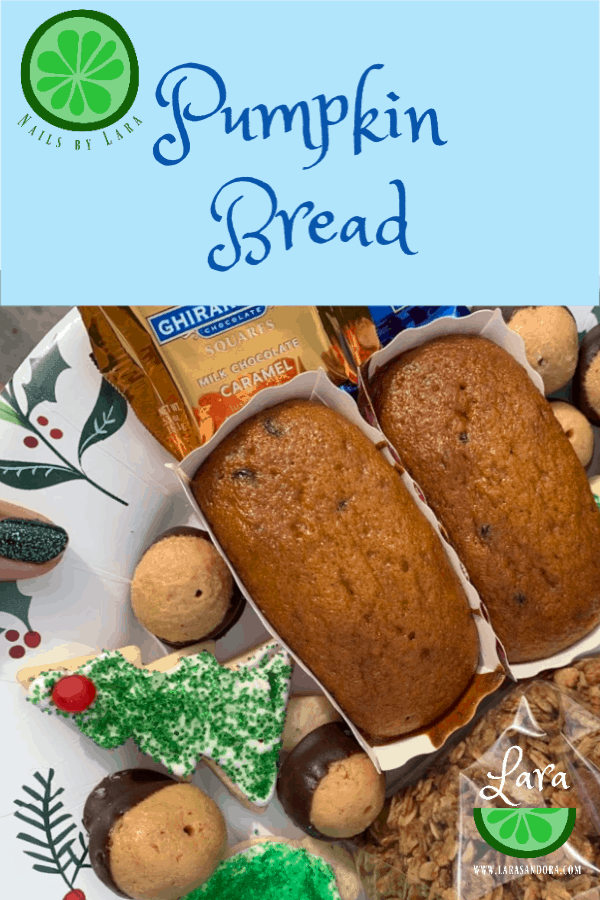 pumpkin bread, dairy free quick bread