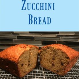 zucchini bread recipe, dairy free quick bread