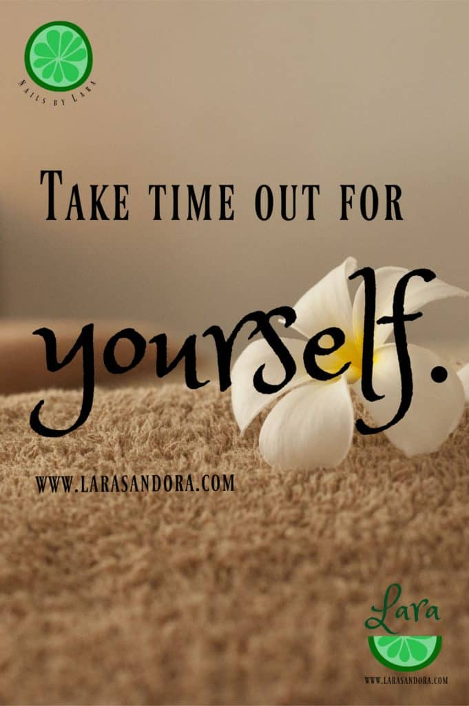 Take time for yourself, taking time to de-stress