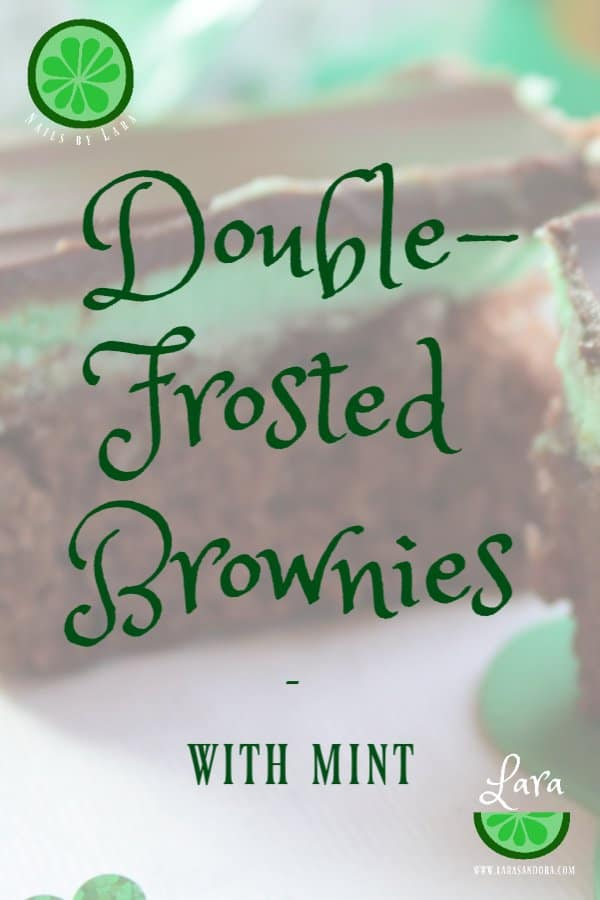 Double-Frosted Brownies with Mint