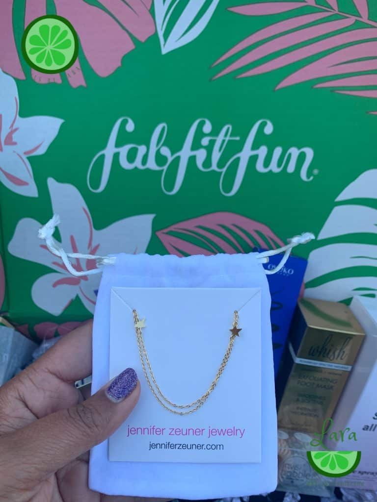 Summer 2019 FabFitFun Box Jennifer Zeuner Necklace