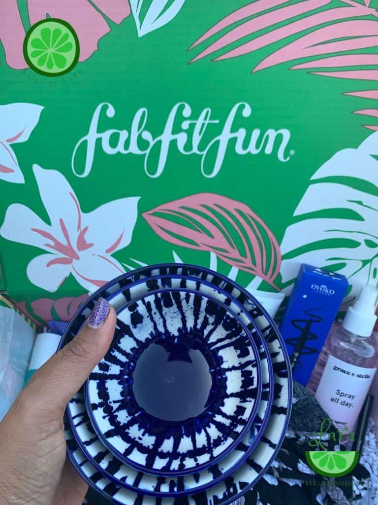 Summer 2019 FabFitFun Box west elm Indigo Tie Dye Bowls