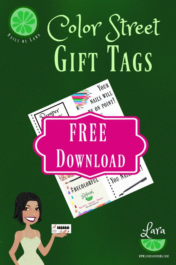 Free Color Street Tags, Color Street Gift Ideas