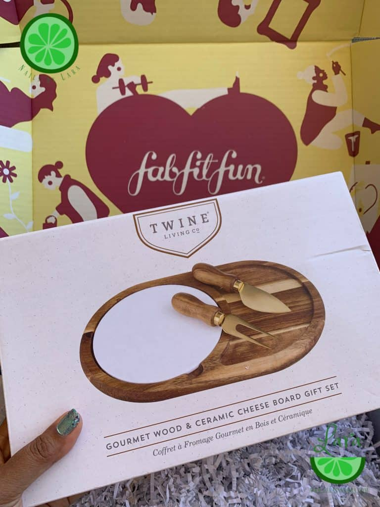 FabFitFun Fall 2019 Box Twine Cheese Board
