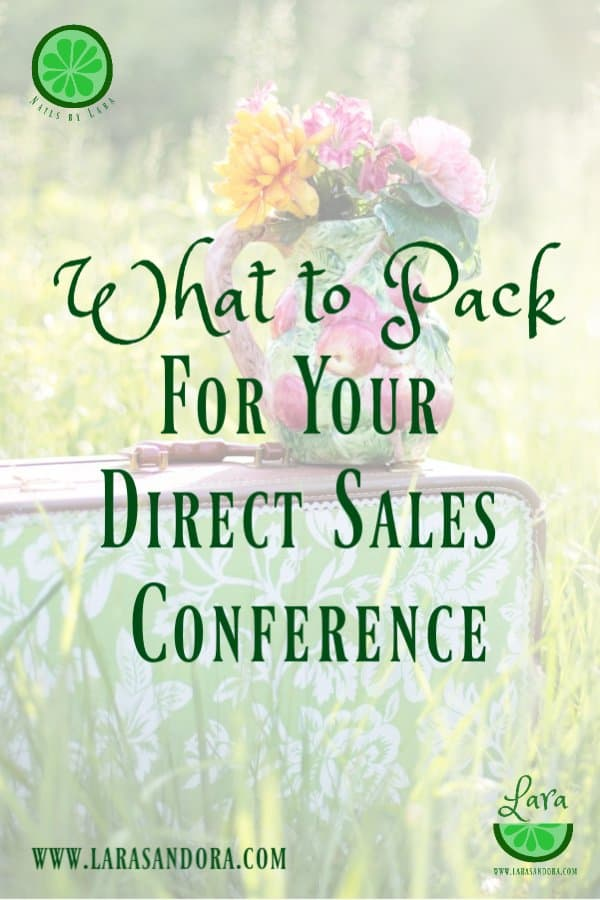pack for your direct sales conference