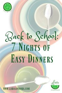 7 nights of easy dinners