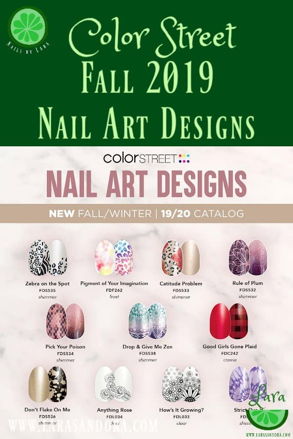 Color Street Fall 2019 Collection Nail Art Designs
