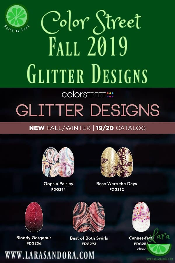 Color Street Fall 2019 Collection Glitter Designs