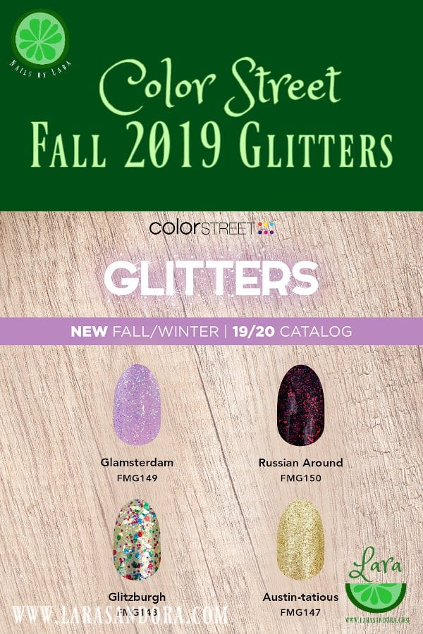 Color Street Fall 2019 Collection Glitters