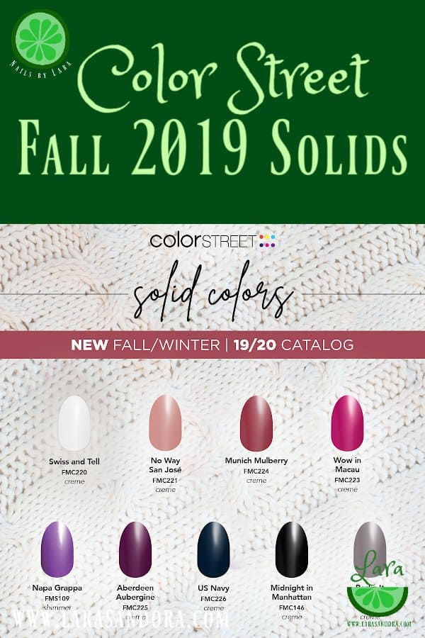 Color Street Fall 2019 Collection Solids