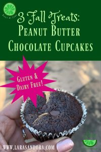 Fall Treat: Peanut Butter Chocolate Cupcakes