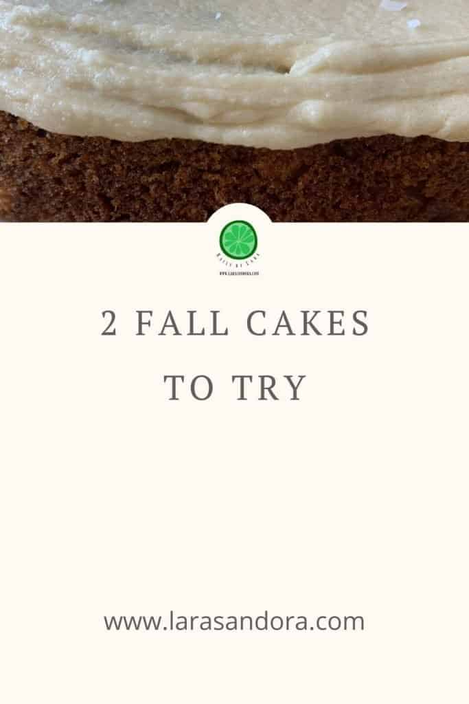 Cakes for Fall Celebrations