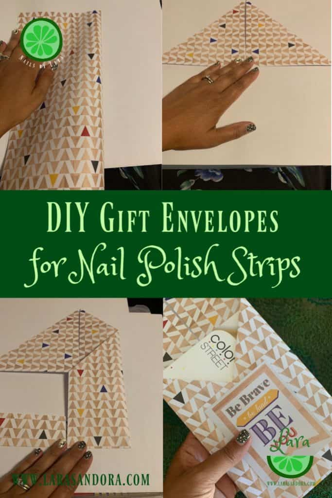 DIY Gift Envelopes for Nail Polish Strips