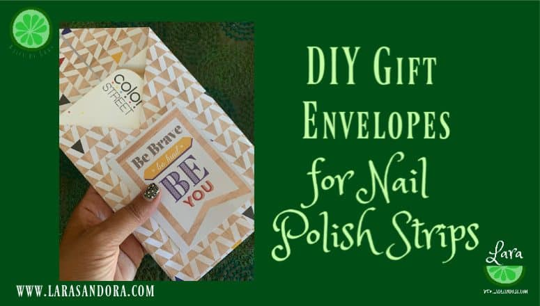 DIY Gift Envelopes for Nail Polish Strips:  9 Easy Steps