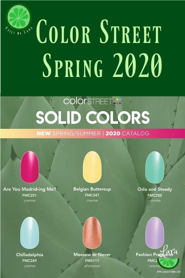 Color Street Spring 2020 Solids
