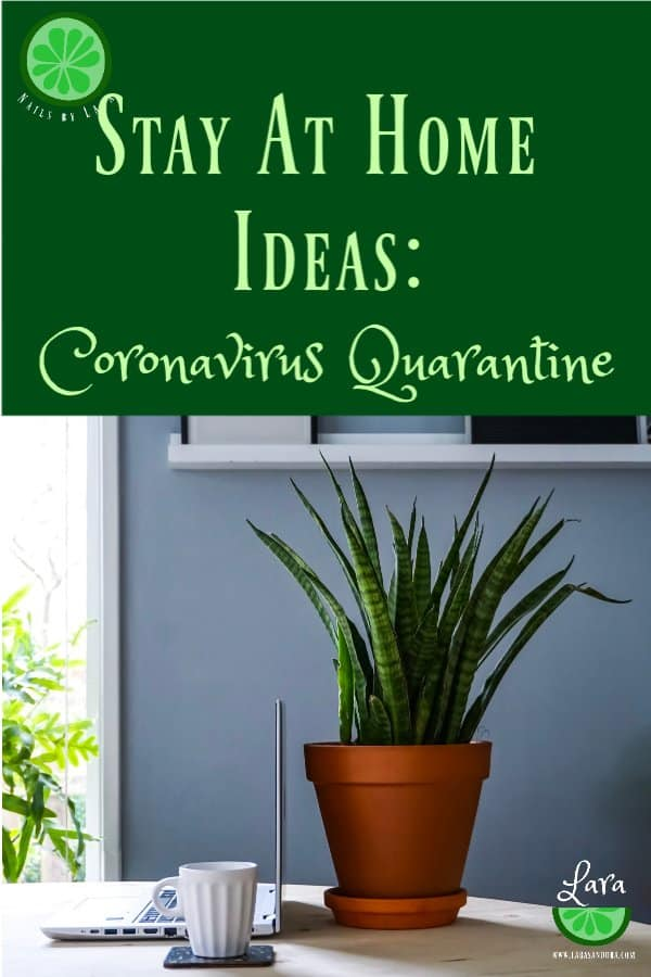 8 Simple Stay at Home Ideas for Coronavirus Quarantine