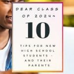 Dear Class of 2024: 10 Tips for New High School Students
