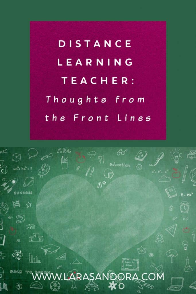 Distance Learning Teacher: Thoughts from the Front Lines