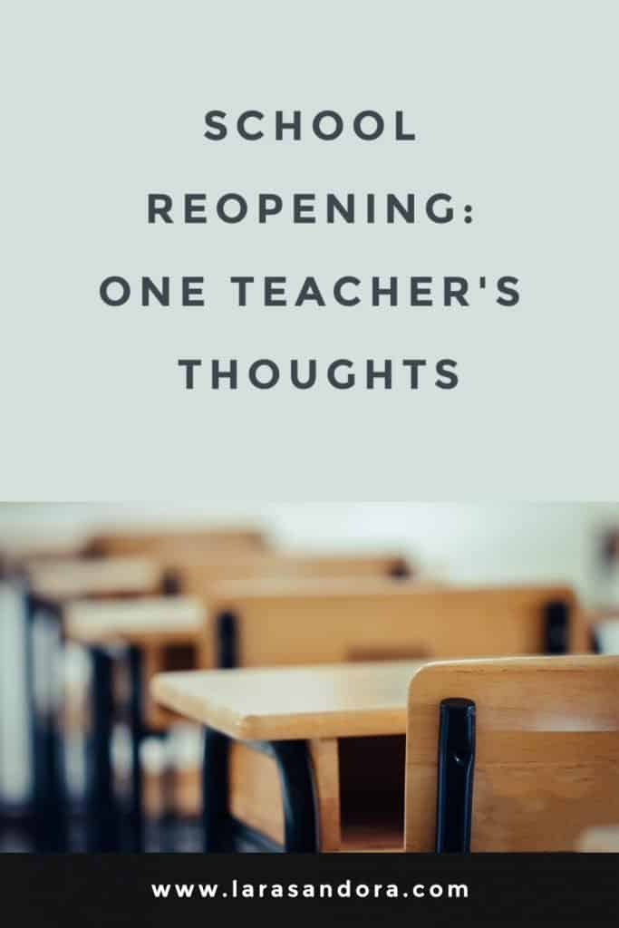 School Reopening: One Teacher's Thoughts