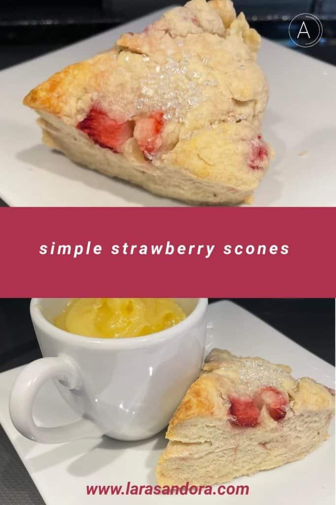 Simple Strawberry Scones