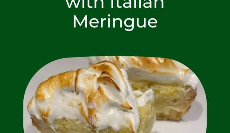 Best Summer Dessert Bars:  Lime Ricotta Bars with Italian Meringue