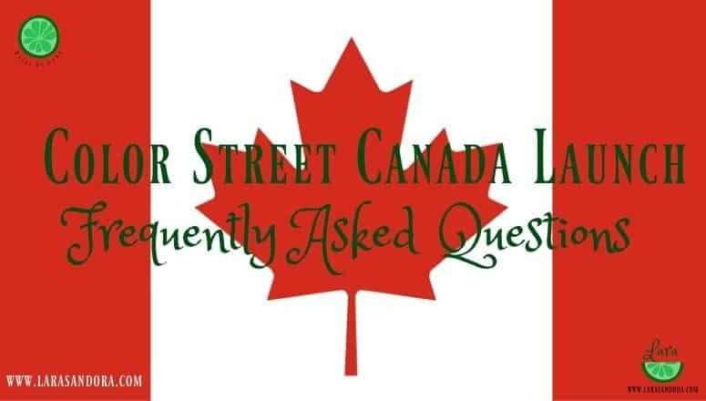 Color Street Canada Launch:  10 FAQ